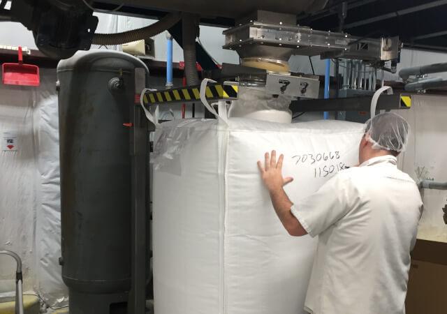 How to load food grade bulk bags